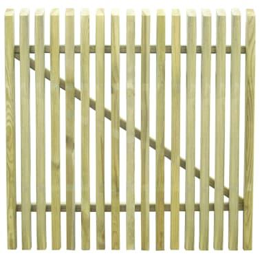 vidaXL Cancello per Steccato in Legno di Pino Impregnato FSC 100x100cm[3/4]