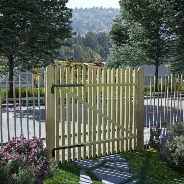 vidaXL Cancello per Steccato in Legno di Pino Impregnato FSC 100x100cm[1/4]