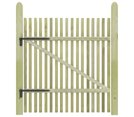 vidaXL Picket Garden Gate FSC Impregnated Pinewood 100x125 cm[2/5]