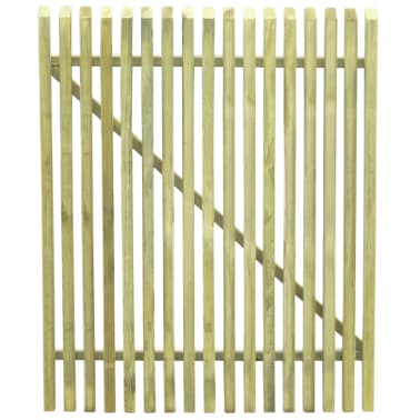 vidaXL Picket Garden Gate FSC Impregnated Pinewood 100x125 cm[3/5]