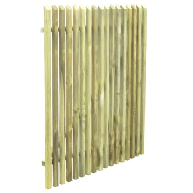 vidaXL Picket Garden Gate FSC Impregnated Pinewood 100x125 cm[4/5]