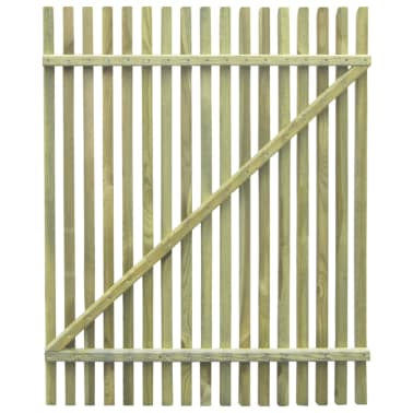 vidaXL Picket Garden Gate FSC Impregnated Pinewood 100x125 cm[5/5]