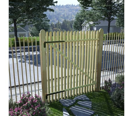 vidaXL Picket Garden Gate FSC Impregnated Pinewood 100x125 cm[1/5]