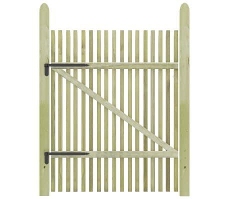 vidaXL Picket Garden Gate Impregnated Pinewood 100x150 cm