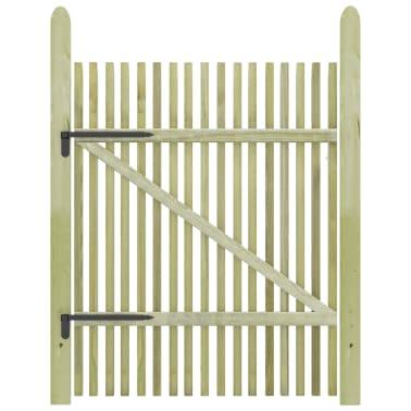 vidaXL Portail de jardin en piquets Bois de pin imprégné FSC 100x150cm[2/5]