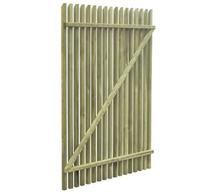 vidaXL Portail de jardin en piquets Bois de pin imprégné FSC 100x150cm[5/5]