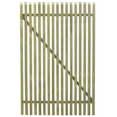 vidaXL Portail de jardin en piquets Bois de pin imprégné FSC 100x150cm[3/5]