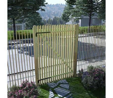 vidaXL Portail de jardin en piquets Bois de pin imprégné FSC 100x150cm[1/5]
