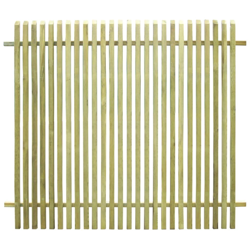 vidaXL Zahradní plot impregnovaná FSC borovice 170 x 150 cm