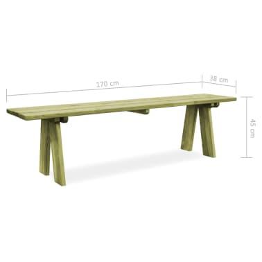vidaXL Záhradná lavička 170 cm, impregnovaná borovica[6/6]