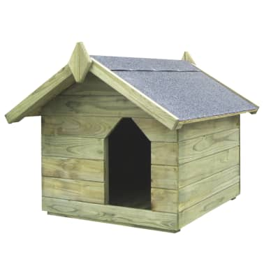 vidaXL Vrtna pasja uta z odpirajočo streho FSC impregnirana borovina[1/6]