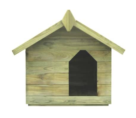 vidaXL Vrtna pasja uta z odpirajočo streho FSC impregnirana borovina[2/6]
