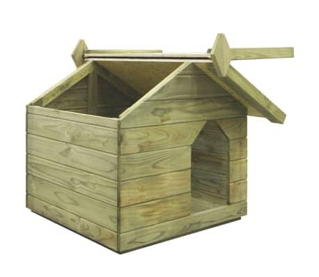 vidaXL Vrtna pasja uta z odpirajočo streho FSC impregnirana borovina[4/6]