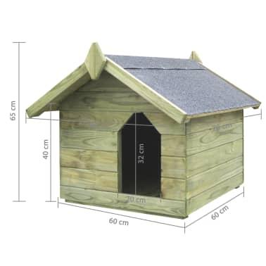 vidaXL Vrtna pasja uta z odpirajočo streho FSC impregnirana borovina[6/6]