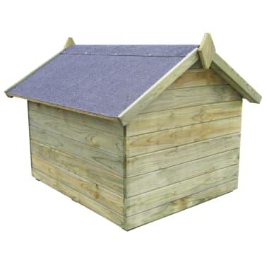 vidaXL Vrtna pasja uta z odpirajočo streho FSC impregnirana borovina[3/6]