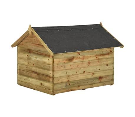 vidaXL Vrtna pasja uta z odpirajočo streho FSC impregnirana borovina[5/6]