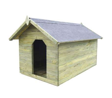 vidaXL Niche de jardin avec toit ouvrant pour chien Pin imprégné FSC[1/6]