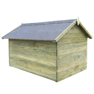 vidaXL Niche de jardin avec toit ouvrant pour chien Pin imprégné FSC[3/6]