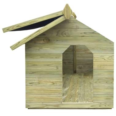 vidaXL Niche de jardin avec toit ouvrant pour chien Pin imprégné FSC[4/6]