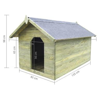 vidaXL Niche de jardin avec toit ouvrant pour chien Pin imprégné FSC[6/6]
