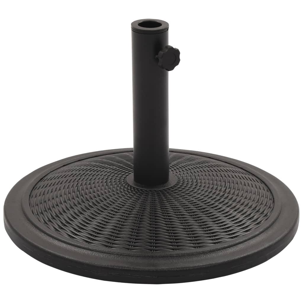 vidaXL Suport de umbrelă de soare, negru, rotund, 13 kg vidaxl.ro