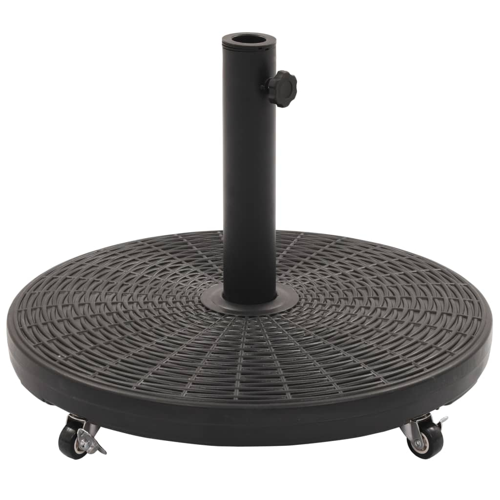 vidaXL Suport de umbrelă de soare, negru, rotund, 27 kg vidaxl.ro