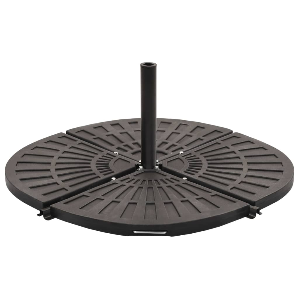 vidaXL Placă de greutate umbrelă, negru, 14 kg, formă evantai imagine vidaxl.ro