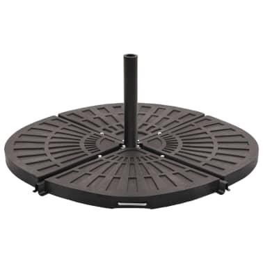 vidaXL Sonnenschirm-Gewichtsplatte Schwarz Fächerförmig 20 kg[2/6]