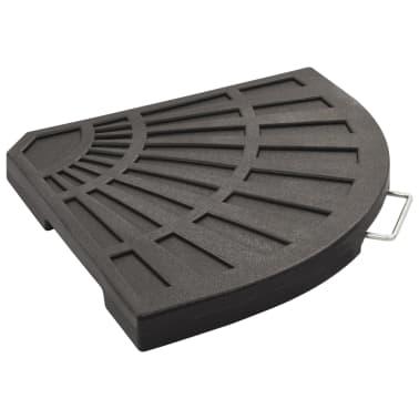 vidaXL Sonnenschirm-Gewichtsplatte Schwarz Fächerförmig 20 kg[3/6]