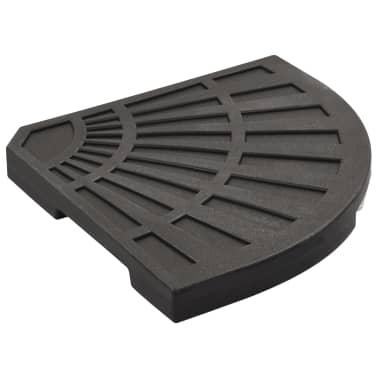 vidaXL Sonnenschirm-Gewichtsplatte Schwarz Fächerförmig 20 kg[4/6]