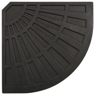 vidaXL Sonnenschirm-Gewichtsplatte Schwarz Fächerförmig 20 kg[5/6]
