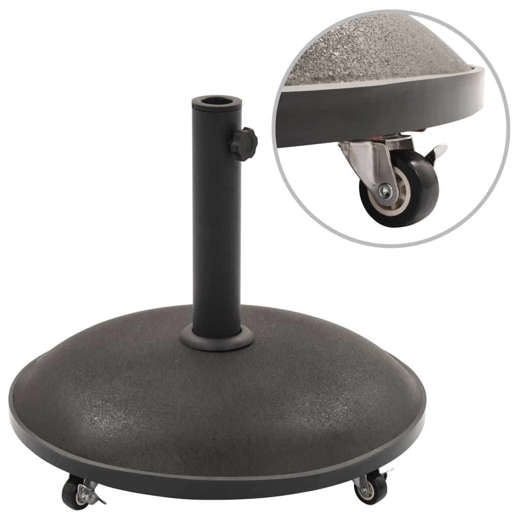 vidaXL Suport umbrelă de soare, negru, beton, rotund, 25 kg imagine vidaxl.ro