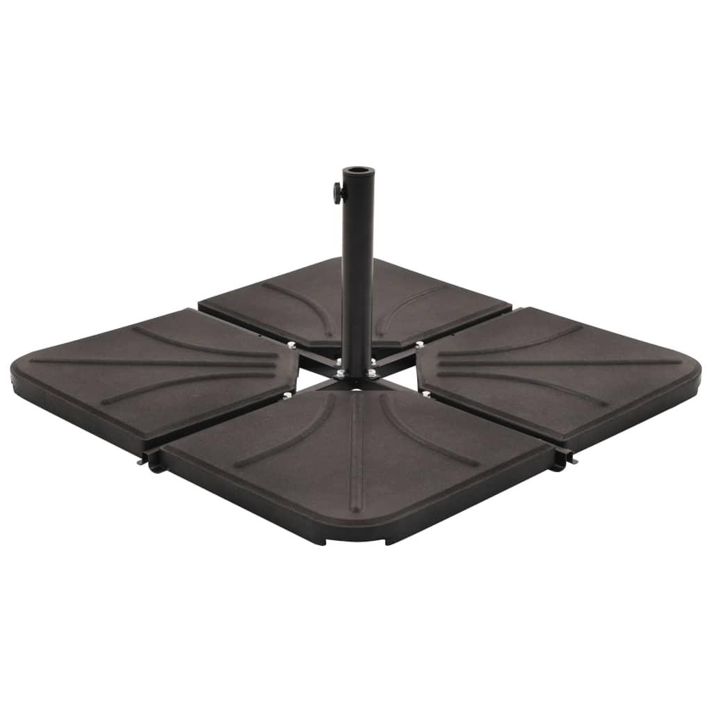 vidaXL Placă de greutate umbrelă, negru, 18 kg, beton, pătrat poza vidaxl.ro