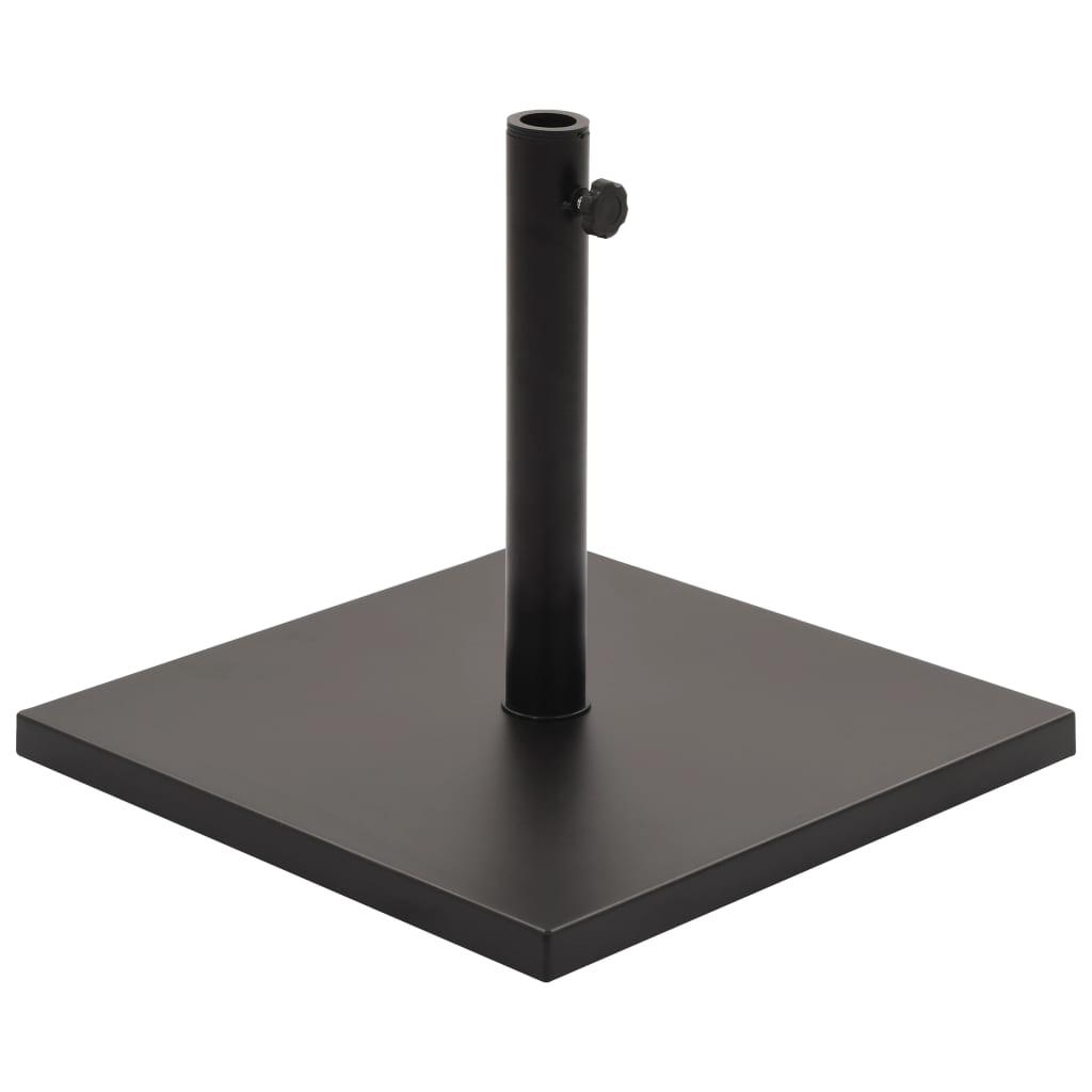 vidaXL Suport umbrelă de soare, negru, pătrat, 18 kg imagine vidaxl.ro