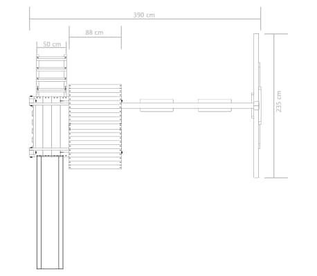 vidaXL Aire de jeu avec échelle, toboggan et balançoires Bois FSC[6/7]