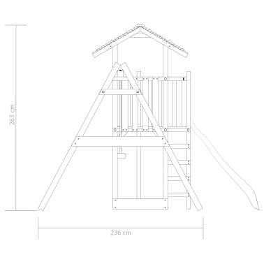vidaXL Aire de jeu avec échelle, toboggan et balançoires Bois FSC[5/7]