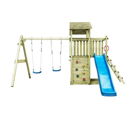 vidaXL Aire de jeu avec échelle, toboggan et balançoires Bois FSC[3/8]