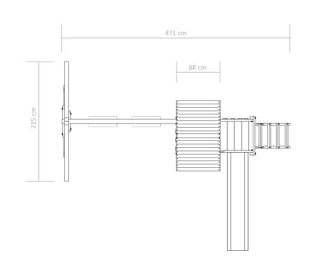 vidaXL Aire de jeu avec échelle, toboggan et balançoires Bois FSC[7/8]