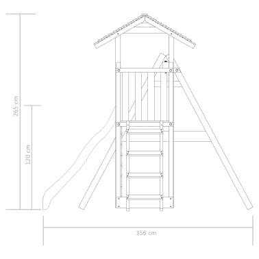 vidaXL Aire de jeu avec échelle, toboggan et balançoires Bois FSC[6/8]