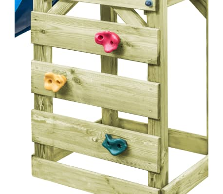 vidaXL Plac zabaw z drabinką, zjeżdżalnią i huśtawką, drewno FSC[4/8]