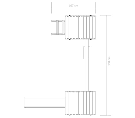 vidaXL Plac zabaw z drabinką, zjeżdżalnią i huśtawką, drewno FSC[7/8]