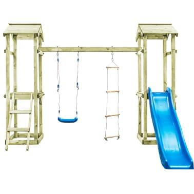 vidaXL Parque infantil con escalera, tobogán y columpio de madera FSC[3/8]