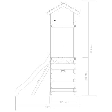 vidaXL Plac zabaw z drabinką, zjeżdżalnią i huśtawką, drewno FSC[6/8]