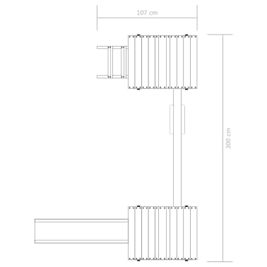 vidaXL Parque infantil con escalera, tobogán y columpio de madera FSC[7/8]