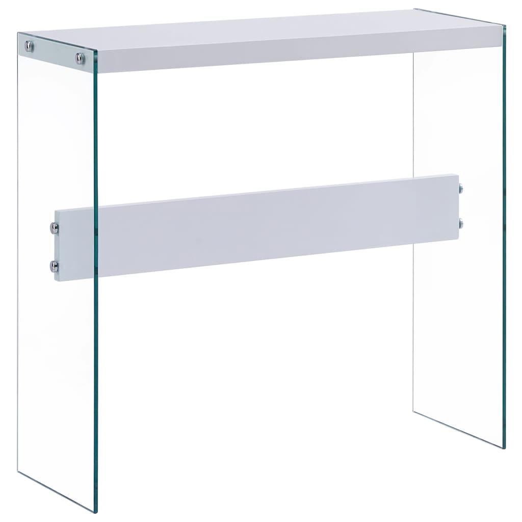 vidaXL Stolik konsolowy, biały, 82x29x75,5 cm, MDF