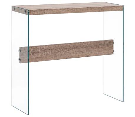 vidaXL Konzolový stolík farba duba 82x29x75,5 cm MDF