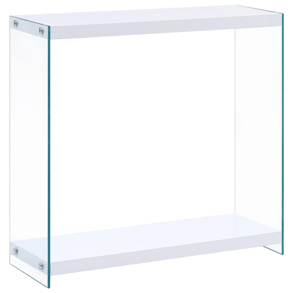 vidaXL Stolik konsolowy, biały, 80x29x75,5 cm, MDF