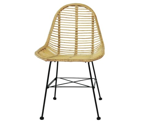 vidaXL Dining Chairs 6 pcs Natural Rattan[3/5]