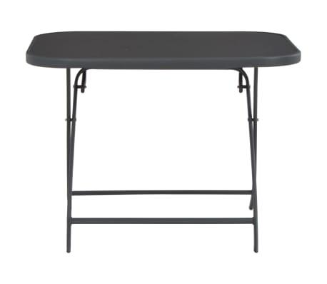 vidaXL Tavolo da Giardino Pieghevole 100x75x72 cm in Vetro e Acciaio