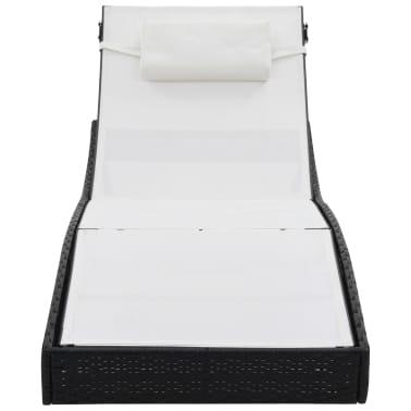 acheter vidaxl chaise longue r sine tress e noir et blanc. Black Bedroom Furniture Sets. Home Design Ideas